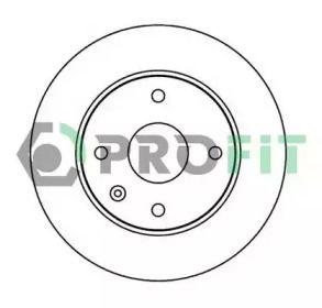 Вентилируемый передний тормозной диск на Шевроле Такума 'PROFIT 5010-2003'.