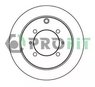 Задний тормозной диск на MITSUBISHI SPACE RUNNER 'PROFIT 5010-2006'.