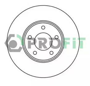 Вентилируемый передний тормозной диск на Ниссан Х-Трейл 'PROFIT 5010-2007'.