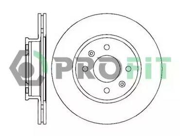Вентилируемый передний тормозной диск на HYUNDAI GETZ 'PROFIT 5010-2016'.