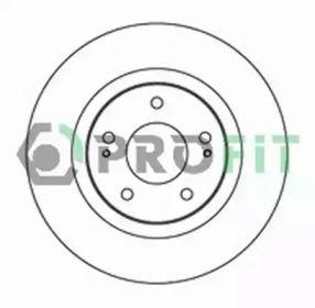 Вентилируемый передний тормозной диск на PEUGEOT 4007 'PROFIT 5010-2017'.