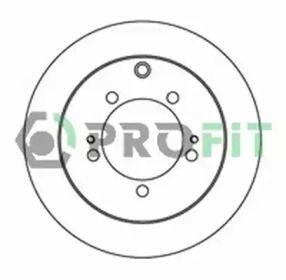 Задний тормозной диск на MITSUBISHI OUTLANDER 'PROFIT 5010-2018'.