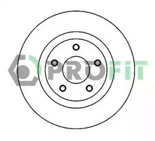 Вентилируемый передний тормозной диск на Ниссан Кашкай 'PROFIT 5010-2019'.