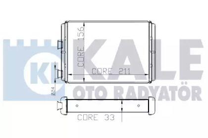Радіатор печі 'KALE OTO RADYATOR 268400'.
