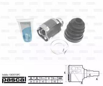 Правий внутрішній ШРУС на MAZDA XEDOS 6 'PASCAL G83010PC'.
