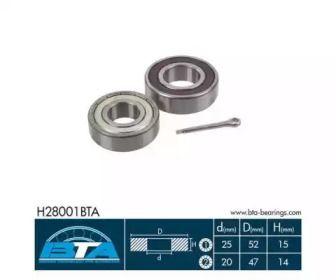 Ступичний підшипник BTA H28001BTA.