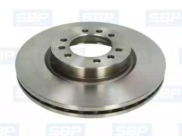 Вентилируемый передний тормозной диск 'SBP 02-IV001'.
