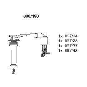 Високовольтні дроти запалювання на MAZDA TRIBUTE BREMI 800/190.