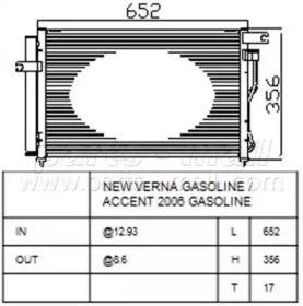 Радиатор кондиционера 'PARTS-MALL PXNCA-090'.