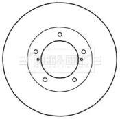 Вентилируемый тормозной диск 'BORG & BECK BBD6003S'.