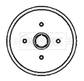 Тормозной барабан на Фольксваген Венто 'BORG & BECK BBR7002'.
