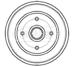 Тормозной барабан на Опель Тигра 'BORG & BECK BBR7044'.