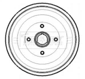 Тормозной барабан на SEAT INCA 'BORG & BECK BBR7189'.