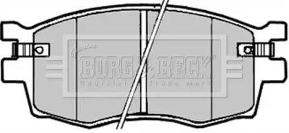 Тормозные колодки 'BORG & BECK BBP1923'.