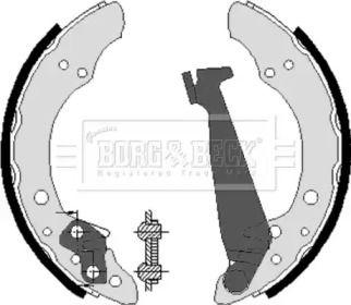Барабанні гальмівні колодки BORG & BECK BBS6213.