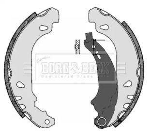 Барабанні гальмівні колодки BORG & BECK BBS6283.