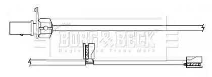 Датчик зносу гальмівних колодок BORG & BECK BWL3139.