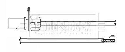 Датчик зносу гальмівних колодок BORG & BECK BWL3140.