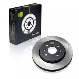 Вентилируемый передний тормозной диск на KIA SHUMA 'TRIALLI DF 073104'.