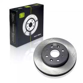 Вентилируемый передний тормозной диск 'TRIALLI DF 073201'.