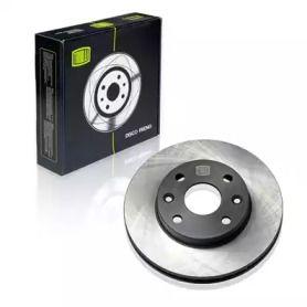 Вентилируемый передний тормозной диск 'TRIALLI DF 073202'.