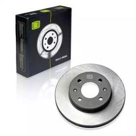 Вентилируемый передний тормозной диск 'TRIALLI DF 084303'.