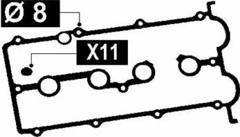 Комплект прокладок клапанної кришки на Мазда МПВ BGA RK3352.