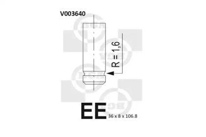Випускний клапан на MAZDA E-SERIE BGA V003640.