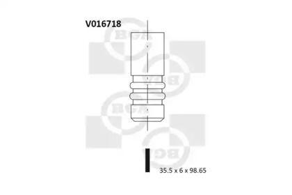 Впускной клапан на SKODA OCTAVIA A5 'BGA V016718'.