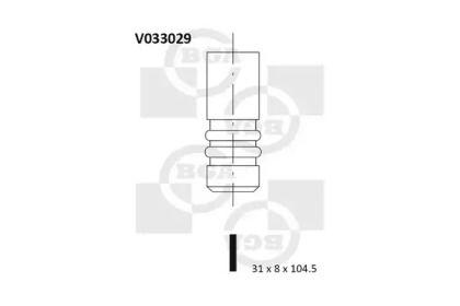 Выпускной клапан на VOLKSWAGEN GOLF 'BGA V033029'.