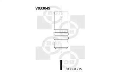 Выпускной клапан на VOLKSWAGEN GOLF 'BGA V033049'.