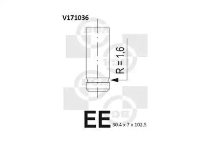 Впускний клапан 'BGA V171036'.