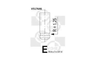 Выпускной клапан BGA V517646.