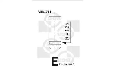 Выпускной клапан BGA V531011.