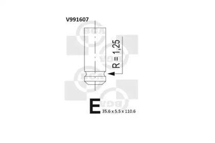 Впускной клапан 'BGA V991607'.