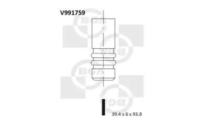 Впускной клапан на Сеат Леон 'BGA V991759'.