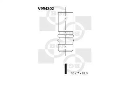 Впускной клапан на VOLKSWAGEN JETTA BGA V994802.