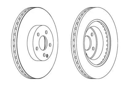 Вентилируемый передний тормозной диск на Мерседес ГЛК 'JURID 562396JC'.