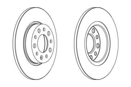 Задний тормозной диск на Джип Ренегат 'JURID 562501JC'.