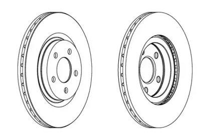 Вентилируемый передний тормозной диск на Крайслер Нью Йоркер 'JURID 562524JC'.