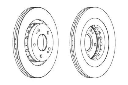 Вентилируемый передний тормозной диск 'JURID 562528JC'.