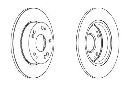 Задний тормозной диск 'JURID 562544JC'.