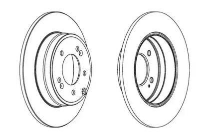 Задний тормозной диск на KIA OPIRUS 'JURID 562849JC'.