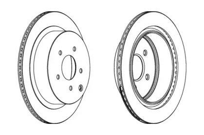 Вентилируемый задний тормозной диск на Инфинити Ку50 JURID 562871JC.