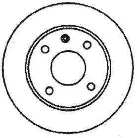 Вентилируемый передний тормозной диск на ROVER 100 'JURID 561178JC'.