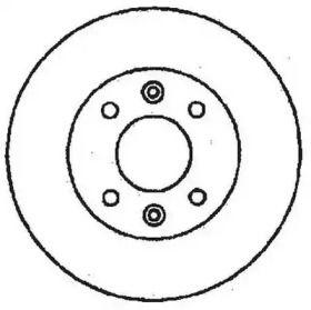 Передний тормозной диск на Рено Экспресс 'JURID 561235JC'.