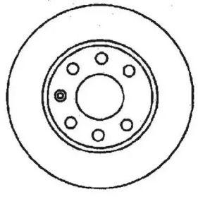 Вентилируемый передний тормозной диск 'JURID 561248JC'.