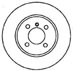 Вентилируемый передний тормозной диск на БМВ З1 'JURID 561324JC'.