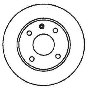 Вентилируемый передний тормозной диск на Форд Эконован 'JURID 561373J'.