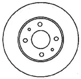 Тормозной диск на Альфа Ромео 33 'JURID 561380JC'.